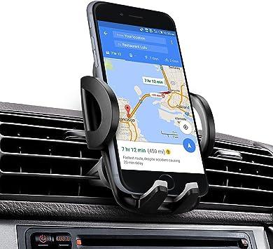 Soporte Movil Coche, iAmotus Universal 360° Rotación Soporte de Smartphone para Rejillas de Ventilacion de
