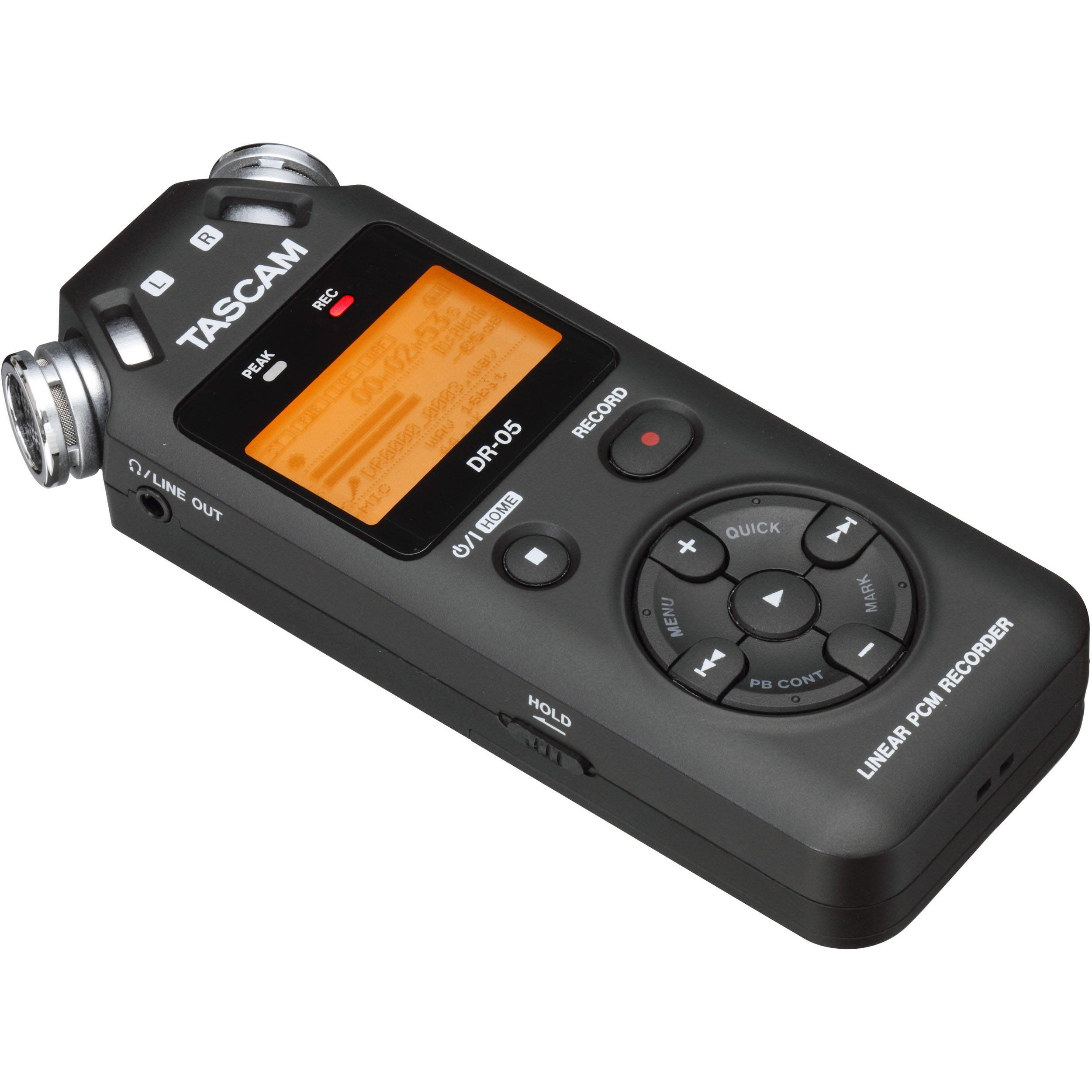 Tascam DR-05 (Version 2) Portable Handheld Digital Audio Recorder (Black) with Deluxe accessory bundle by Tascam (Image #4)