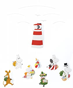 Moomin Version II Hanging Nursery Mobile - 23 Inches - Handmade in Denmark by Flensted