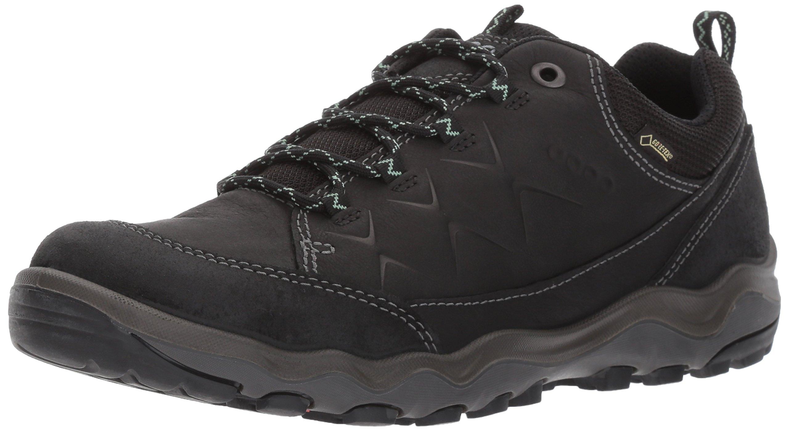 ECCO Women's Ulterra Low Gore-Tex Hiking Shoe, Black/Black, 40 EU / 9-9.5 US
