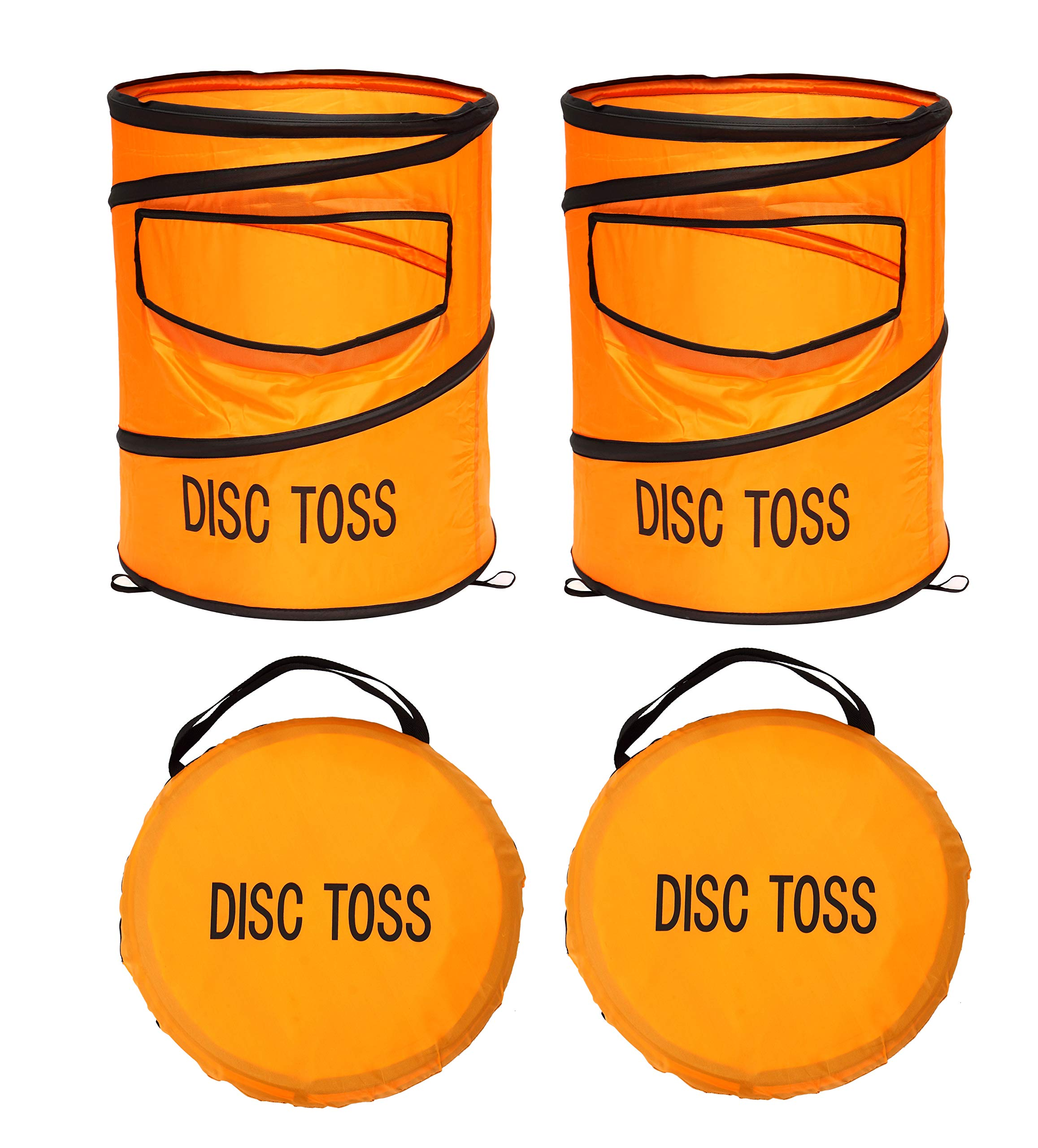 Win SPORTS Folding Disc Slam Game Set, Flying Disc Toss Slamming Game Set (2 Targets & 2 Flying Disc & Carrying Case), Kids Adults Fun Game Perfect for Tailgating, Backyard, Family Parties, BBQs by Win SPORTS