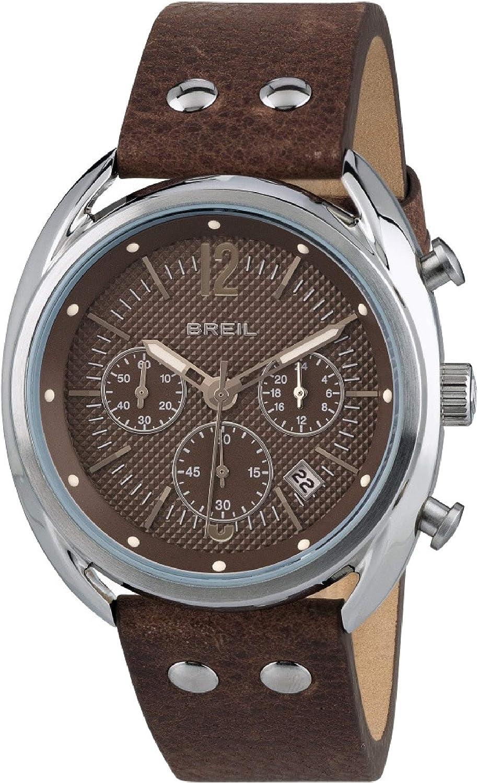 Reloj BREIL Hombre BEAUBOURG Esfera marrón e Correa in Piel de Becerro marrón, Movimiento Chrono Cuarzo