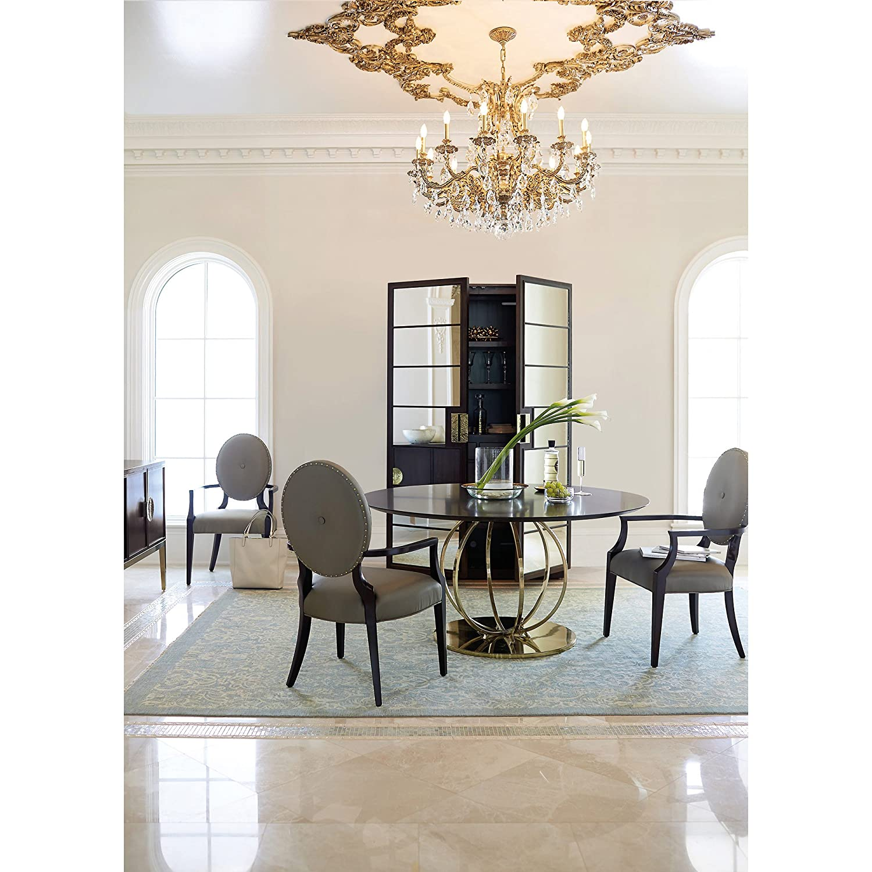 Amazon.com: Crawford Modern Regency Sapele Veneer Mirrored Curio ...