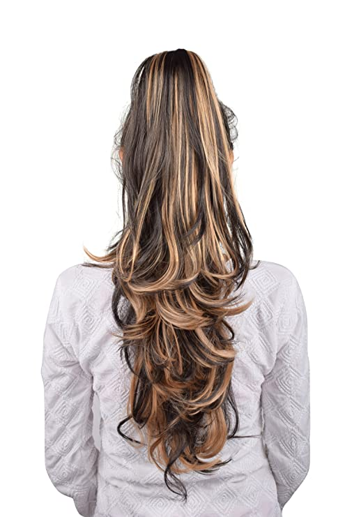 Homeoculture Golden Highlighting Hair Extension With Plastic