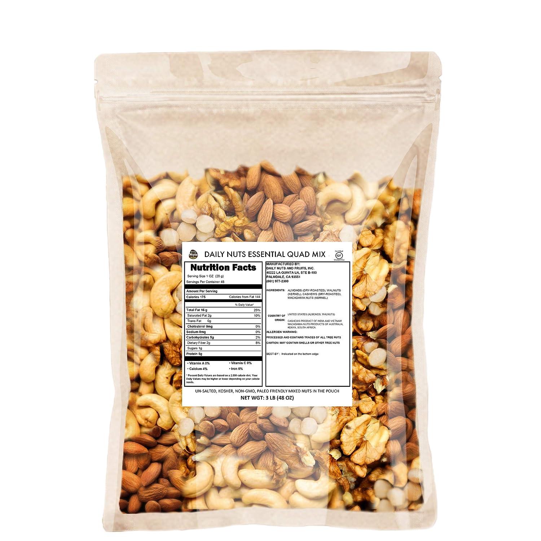 Daily Nuts Healthy Mix Bulk (B. Quad Mix, 48 OZ)