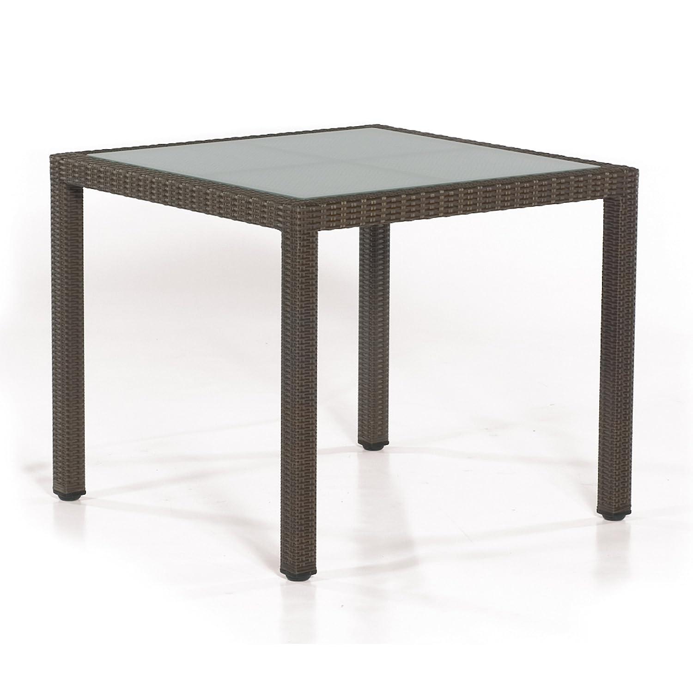 Sonnenpartner Tisch Glastisch Vera Cruz 90 x 90 cm cappuccino 80061257