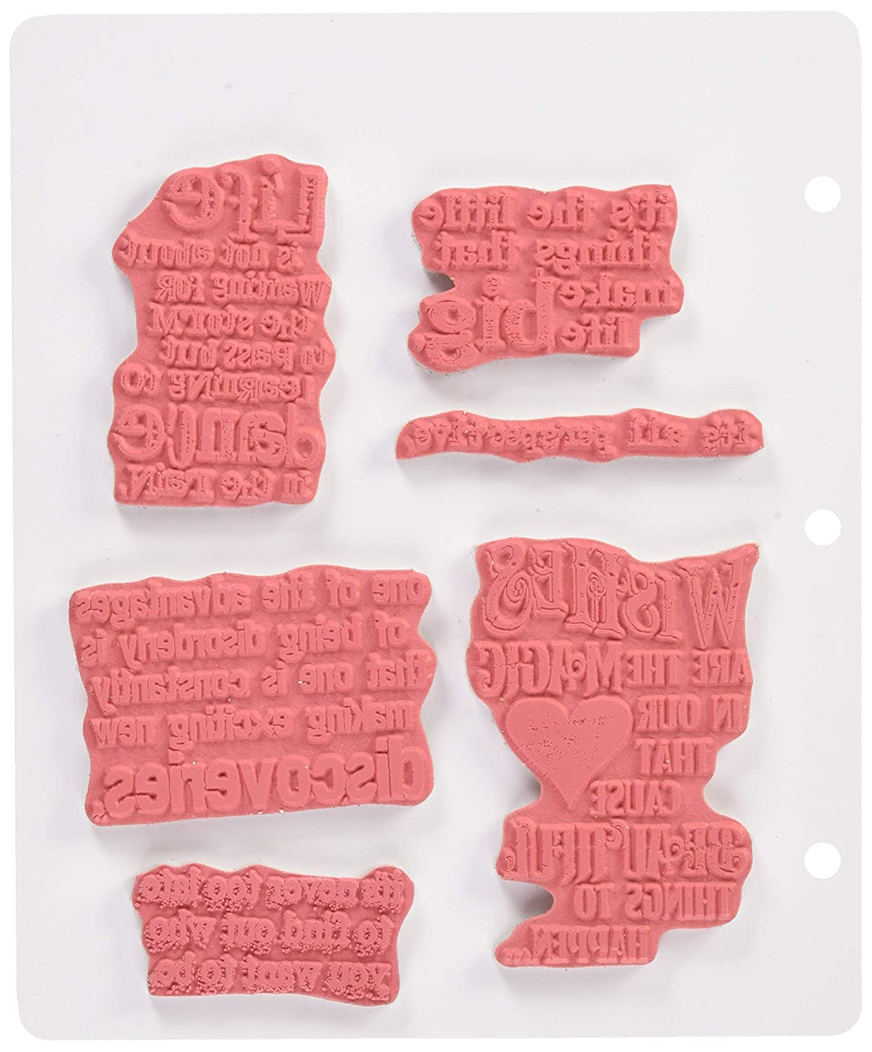 Good Thoughts Stampers Anonymous Tim Holtz Cling Rubber Stamp Set