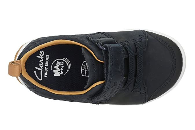809076ee37c Clarks Infant Boys First Walking Shoes Maxi Take - Navy Leather - UK Size  4F - EU Size 20 - US Size 4.5M: Amazon.co.uk: Shoes & Bags