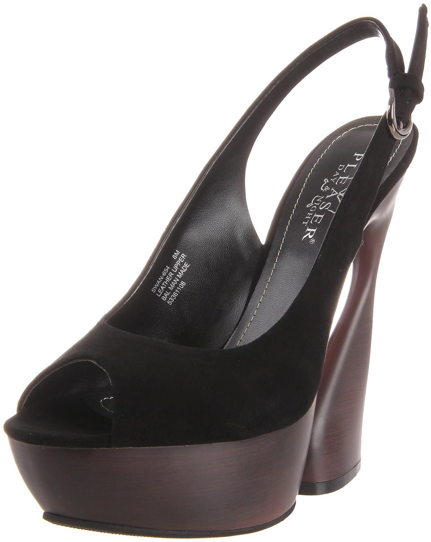 Pleaser Women's Swan-654/BS Platform Sandal B005NCY8BM 6 B(M) US|Black Suede