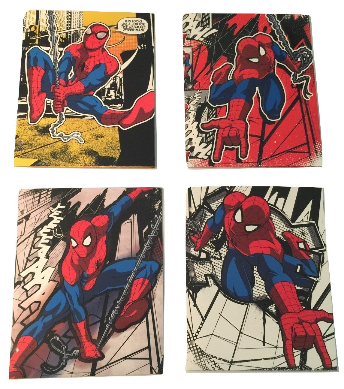 Innovative Design 101 Marvel Comics Classic Spider-man 4 Folder Set ~ This Looks Like a Job for the Ultimate Spider-man
