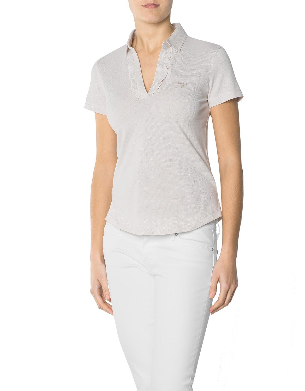 newest collection b27d8 7b151 cheap GANT Damen Polo-Shirt Baum Wolle T-Shirt Unifarben ...