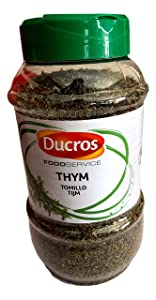 Ducros culinary Thyme Leaves 5.8 ounces, Food Service Pack, Tomillo, Thyme Spice, 165g grams Pack