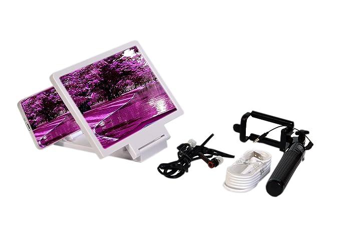 HENCH Mobile Combo - Enlarged screen, Selfie Stick, Earphones, USB on