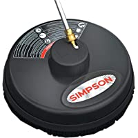 Simpson Cleaning 80165, Rated Up to 3700 PSI Universal 15″ Steel Surface Scrubber for Cold Water Pressure Washers, Plain