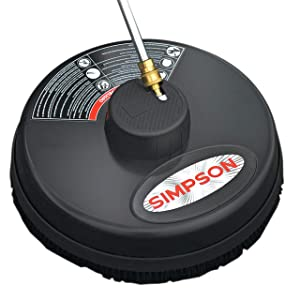 "Simpson Cleaning 80165, Rated Up to 3600 PSI Universal 15"" Steel Surface Scrubber for Cold Water Pressure Washers, Plain"