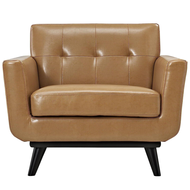 Amazon Modway Engage Mid Century Modern Upholstered Leather