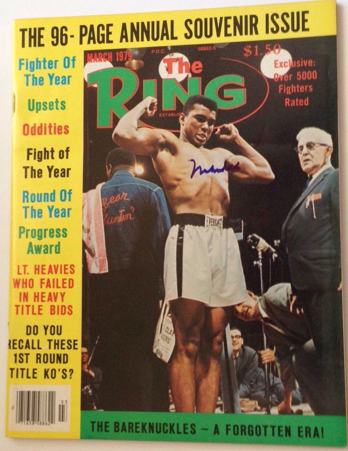 Muhammad Ali signed the Ring magazine boxing cassius clay autographed PSA/DNA Certified Autographed Boxing Magazines
