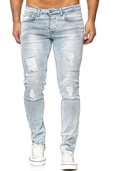 Elara Herren Jeans   Slim Fit Hose Denim   Strech Style   Chunkyrayan