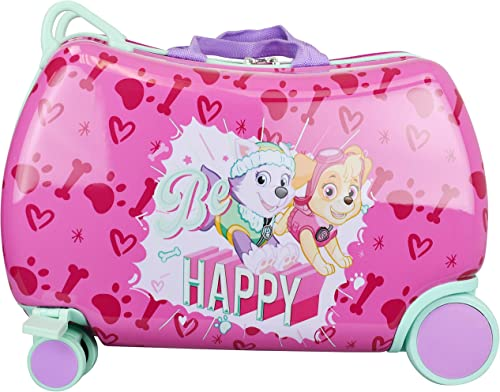 Nickelodeon Paw Patrol Boys – Girls Carry On Luggage 20 Kids Ride-On Trunky Suitcase GIRL MULTI