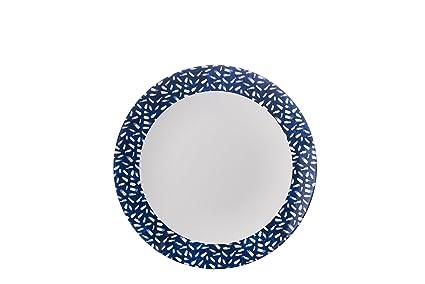 Francés azul marino y blanco diseño de Dash – Plato para guarnición – Mix & match