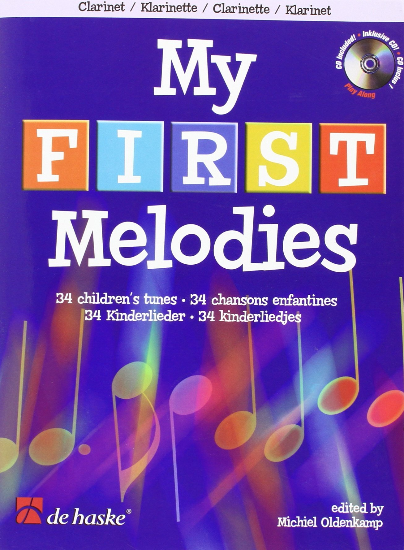 Read Online MY FIRST MELODIES 34 SONGS     CLARINET BK/CD VERY EASY ebook