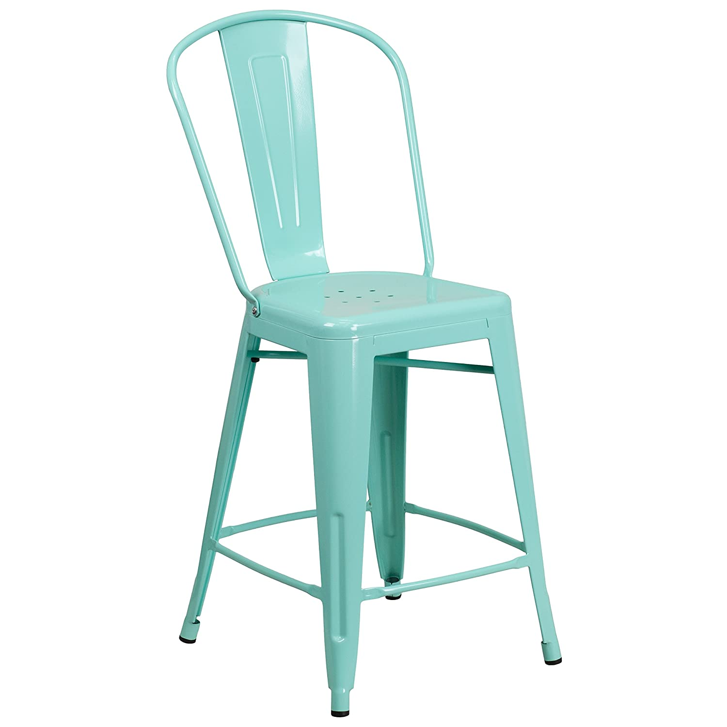Amazon.com: Flash Furniture 24\'\' High Mint Green Metal Indoor ...