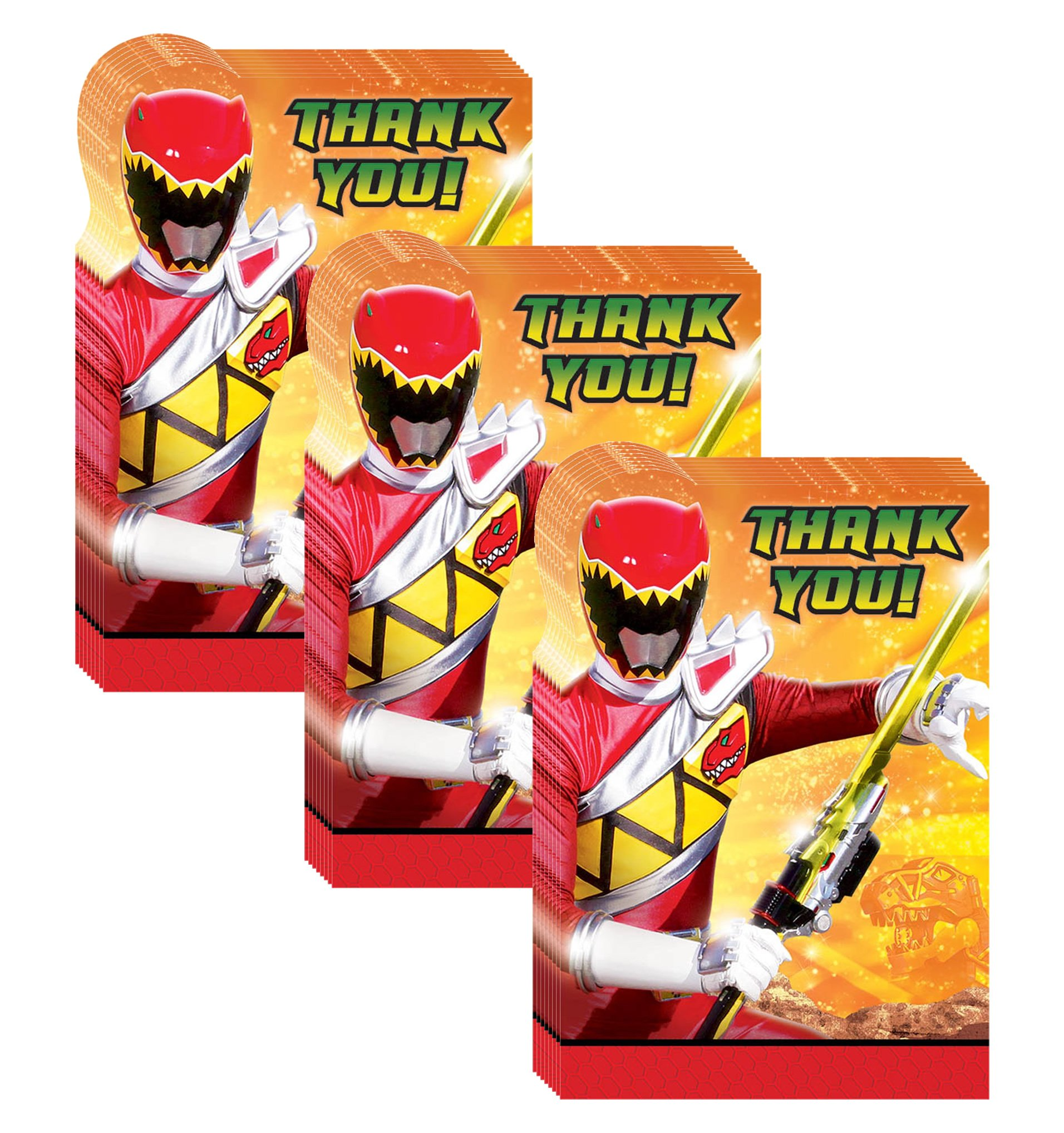 Power Rangers Dino Charge Party Thank-You Notes - 24 Pieces