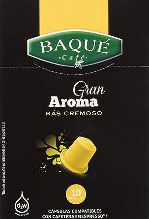 Cafés Baqué Cápsulas Compatibles Nespresso Gran Aroma - 50 gr ...