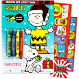 peanuts charlie brown christmas coloring and activity book set with crayons and stickers kids toddlers - Peanuts Coloring Book
