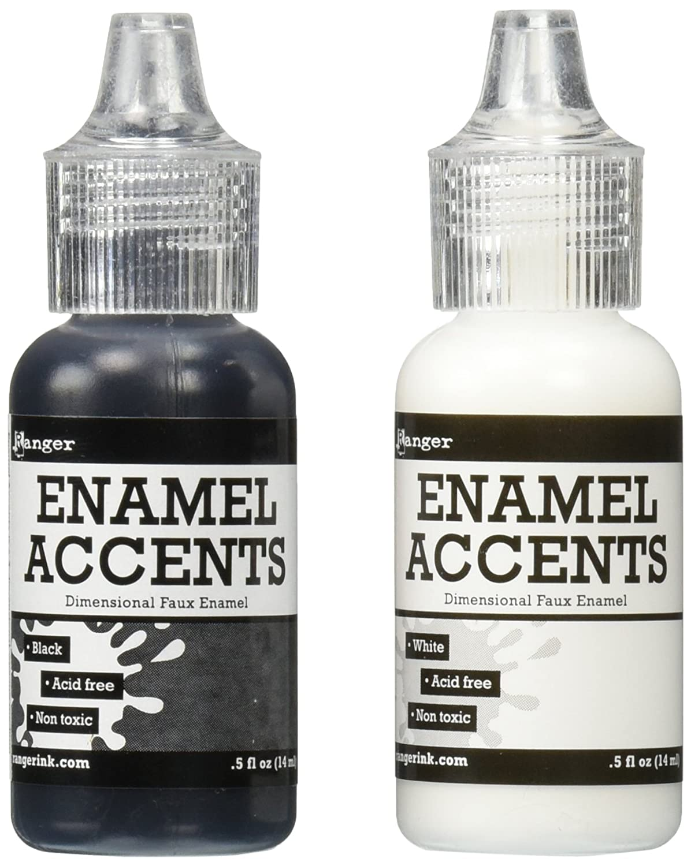 Ranger Enamel Accents Set, Black and White GAC27355