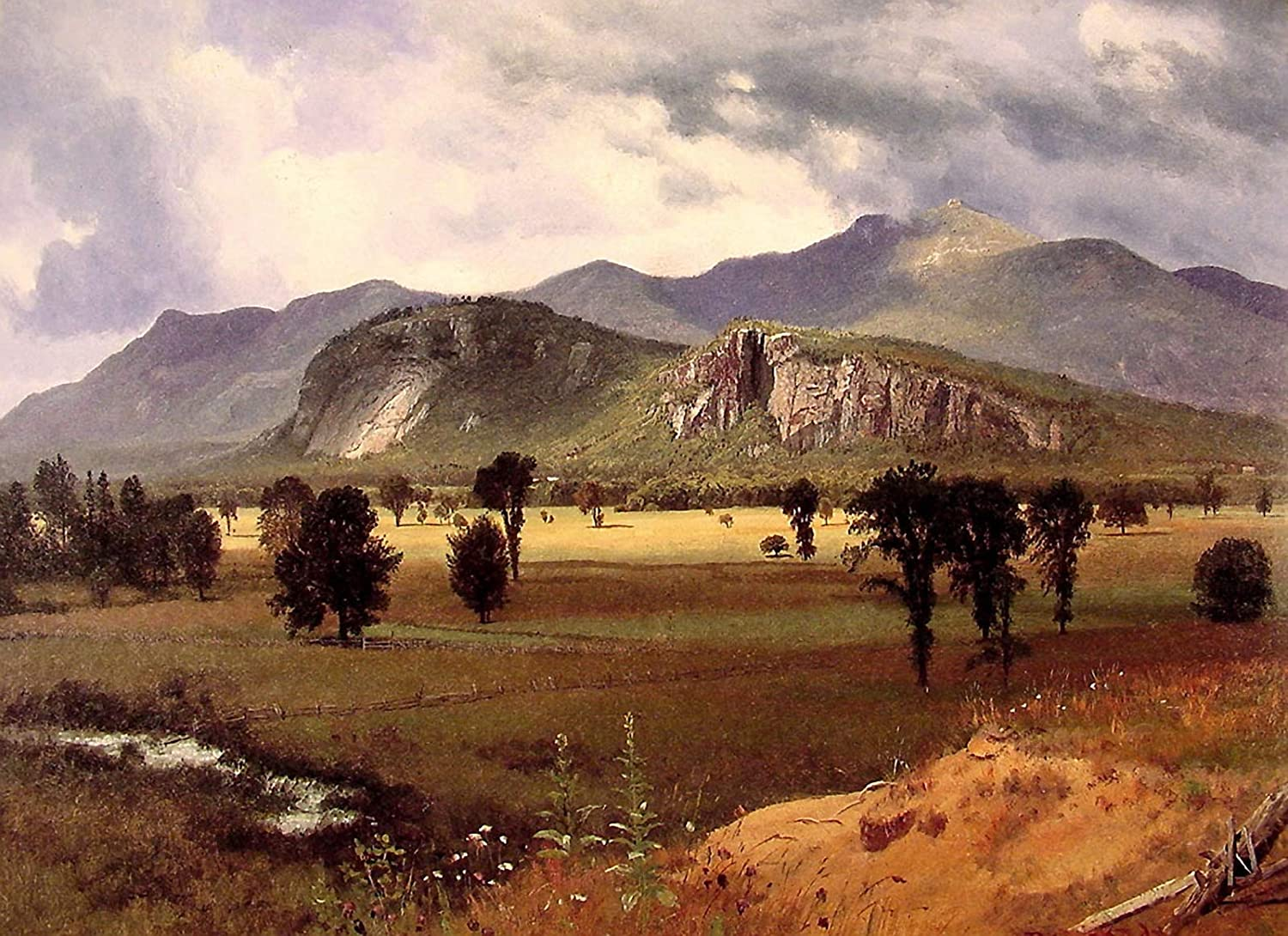 White Mountains New Hampshire 2 by Albert Bierstadt Giclee Repro on Canvas