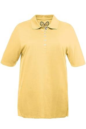 1d82e2cfcdfad Ulla Popken Women s Plus Size Basic Pique Polo Shirt Light Yellow 12 14  637297 61