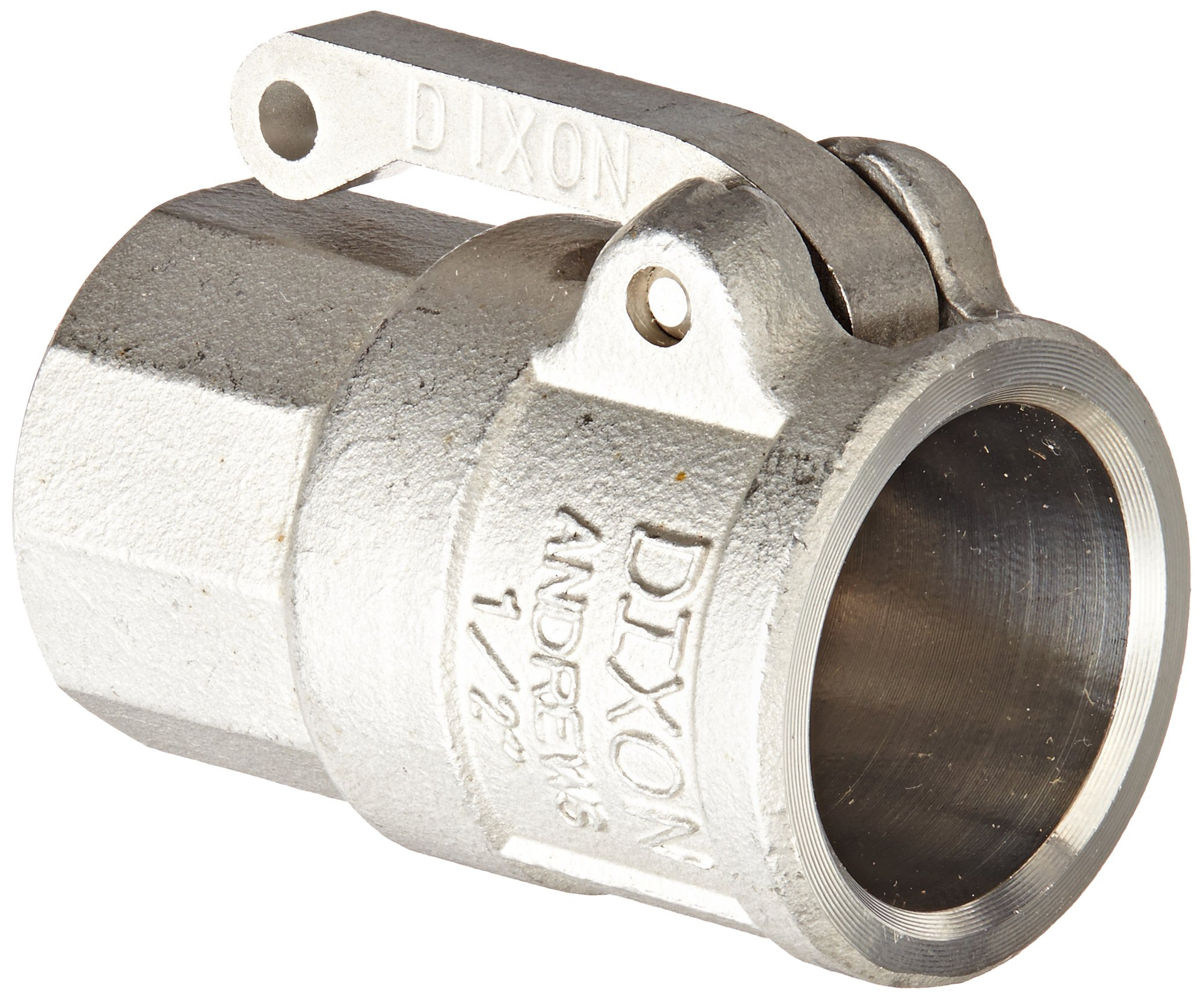 Dixon 50-D-SS Stainless Steel 316 Type D Cam and Groove Hose Fitting, 1/2'' Socket x 1/2'' NPT Female