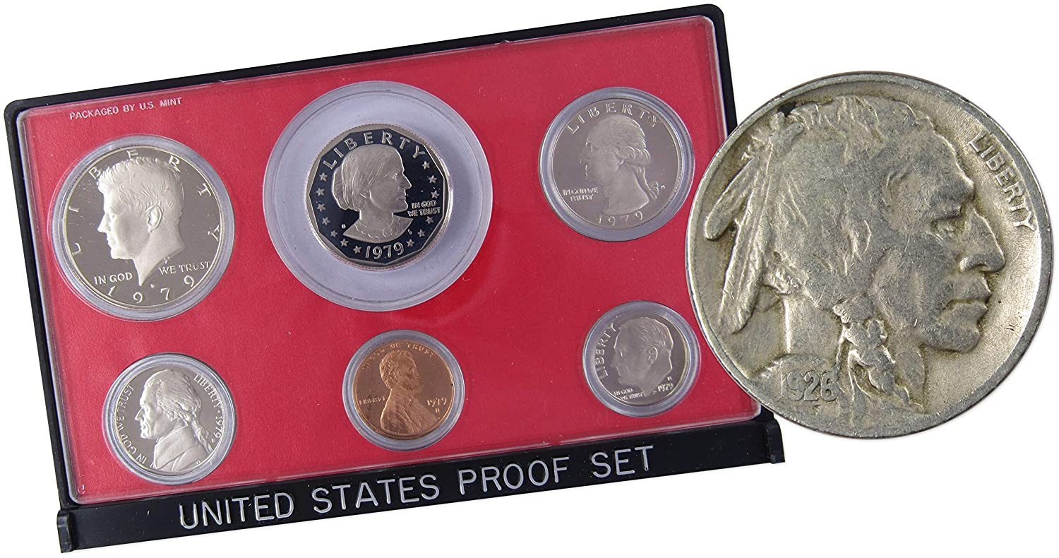 1979 Proof Coin Set US Mint San Francisco 6 Coins Susan B Anthony Dollar