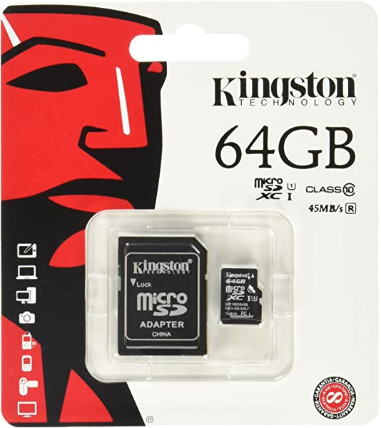 Amazon.com: Kingston Digital 64 GB microSD Class 10 UHS-1 ...