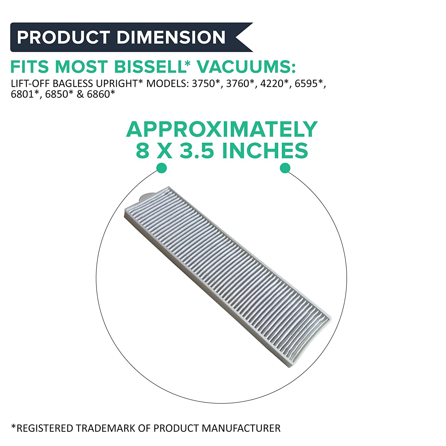 Think Crucial Fits Bissell LiftOff Bagless 2036608 Fits Vacs Momentum Velocity Bagless Upright Part 3091 2038093 203-6608 470856 FX HVF090 Bulk Crucial Vacuum Replacement Filter Parts Compatible with Bissell Filter 8 14 HEPA Style 4 Pack