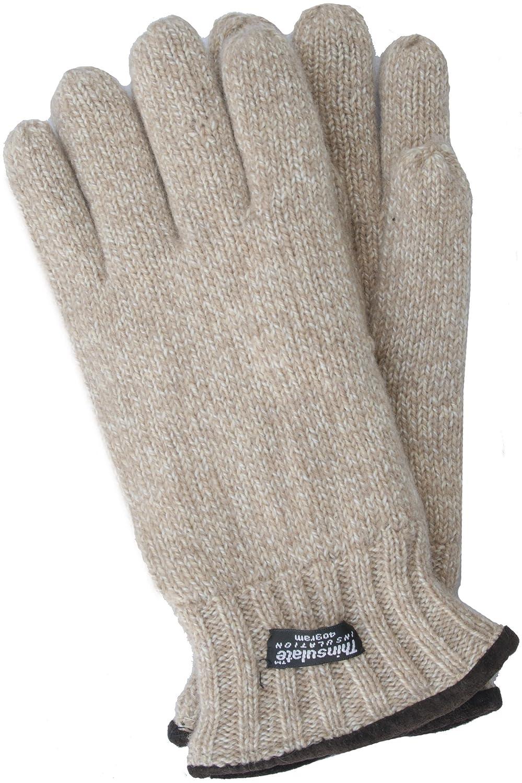 EEM Herren Strickhandschuhe FYNN mit Thinsulate Thermofutter, 100% Baumwolle, Winterhandschuhe 4605M-PARENT