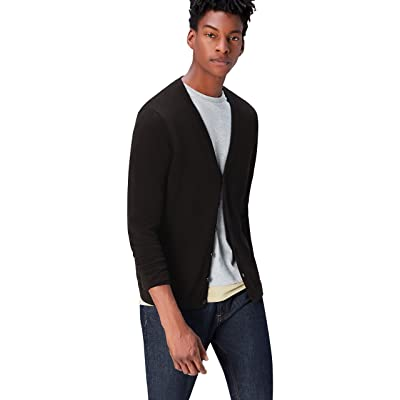 Brand - find. Men's Cotton Button Down Cardigan Sweater: Clothing