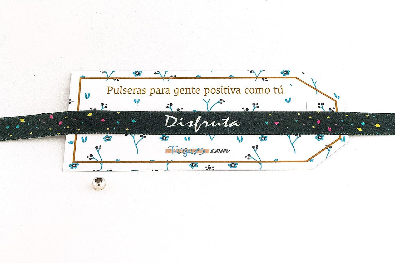 Pulseras de tela con frases molonas: DISFRUTA | Regalo original: Amazon.es: Hogar