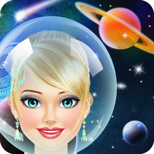 Space Girl Salon Makeover Game for Kids - Full Version -