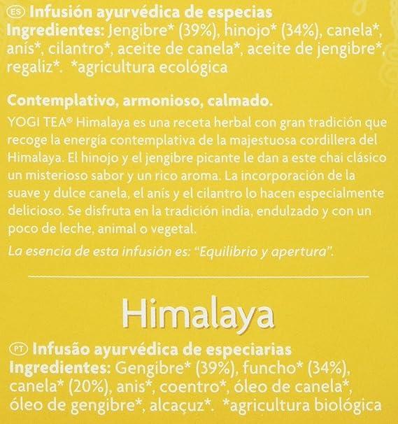 Yogi Tea Himalaya - Paquete de 6 x 17 Sobres - Total: 102 Sobres: Amazon.es: Alimentación y bebidas