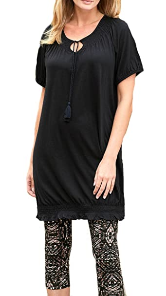 5849e781514c TopsandDresses Ladies Tunic Dress in Blue, Brown Black in Women's UK Size 8  up to Plus Size 32: Amazon.co.uk: Clothing