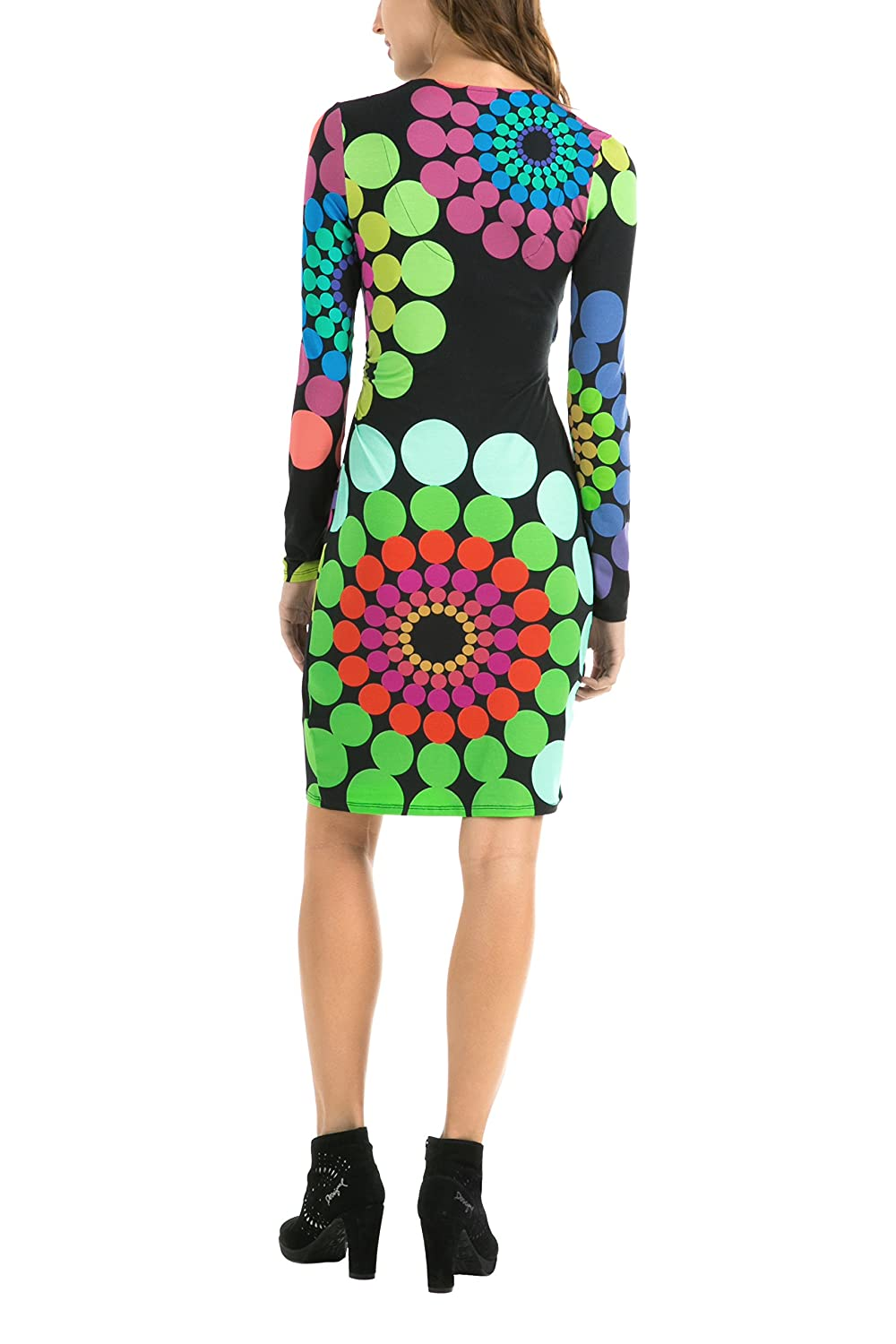 Manches Longues Femme Imprimé Desigual Charly Robe Patineuse dBrCoexW