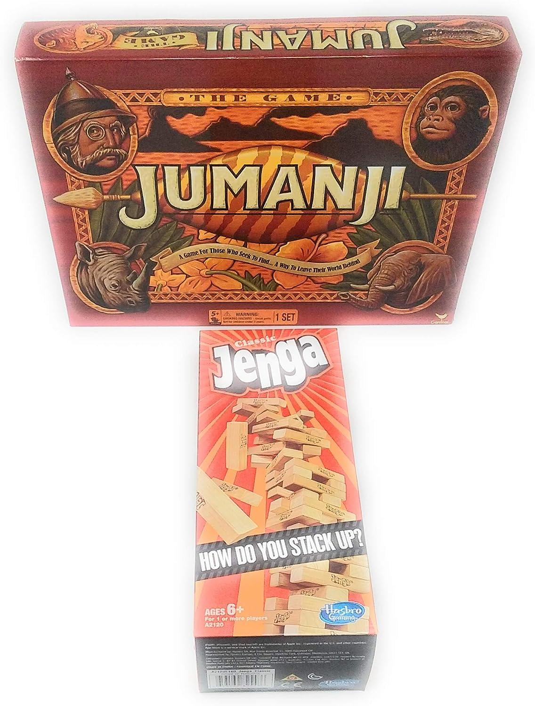 Juego de Cartas TLC Juego Cardinal Game Jumanji The Game Action Game y Classic Jenga The Original Wood BlockGame: Amazon.es: Juguetes y juegos