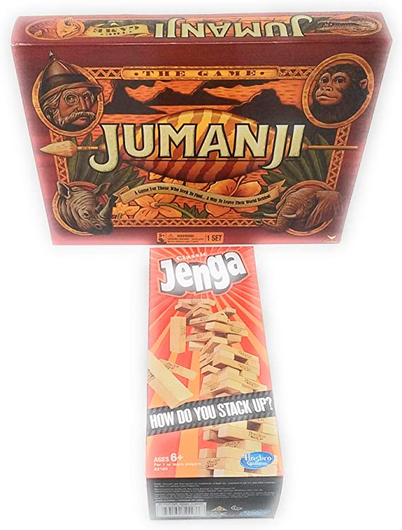 Juego de Cartas TLC Juego Cardinal Game Jumanji The Game Action Game y Classic Jenga The Original Wood BlockGame: Amazon.es: Juguetes y juegos