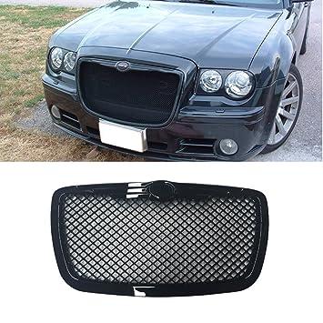 audrfi Fit: 05 - 10 Chrysler negro ABS plástico lujo malla estilo frontal capucha Grille: Amazon.es: Coche y moto