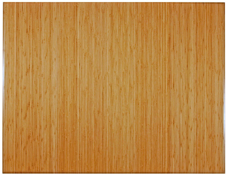 Bamboo Foldable Natural 48'' x 60'' No Lip 5/16'' Thickness Chair Mats