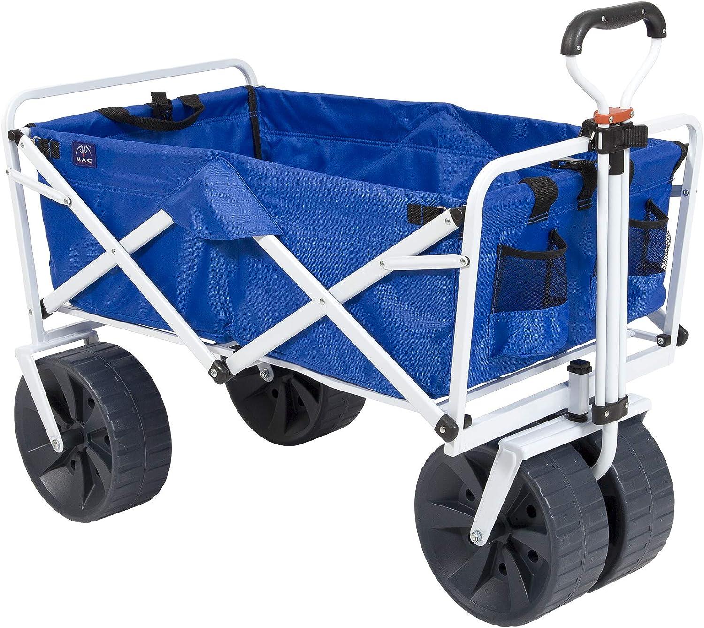 Mac Sports Heavy Duty Collapsible Folding All Terrain Utility Beach Wagon