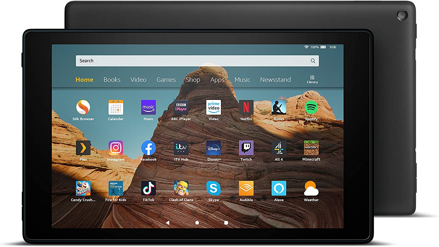 Fire HD 10 Tablet | 10.1″ 1080p Full HD display, 32 GB, Black