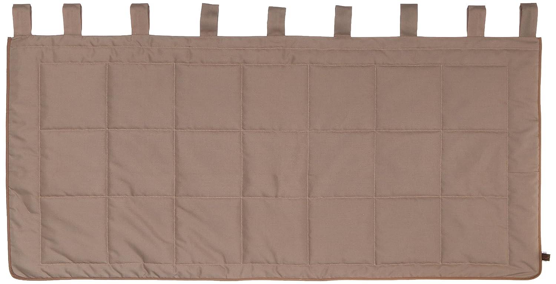 Linder 0509//28//807//160 Monaco T/ête de Lit /à Pattes Ouatin/ée Polyester//Coton Taupe 85 x 160 cm